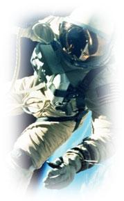 Picture of Astronaut Repairing Satellite